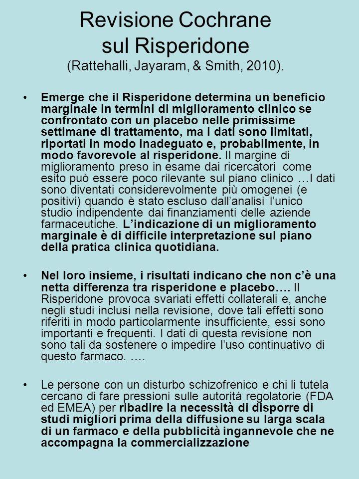 Revisione Cochrane sul Risperidone (Rattehalli, Jayaram, & Smith, 2010).