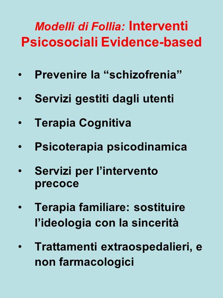 Modelli di Follia: Interventi Psicosociali Evidence-based