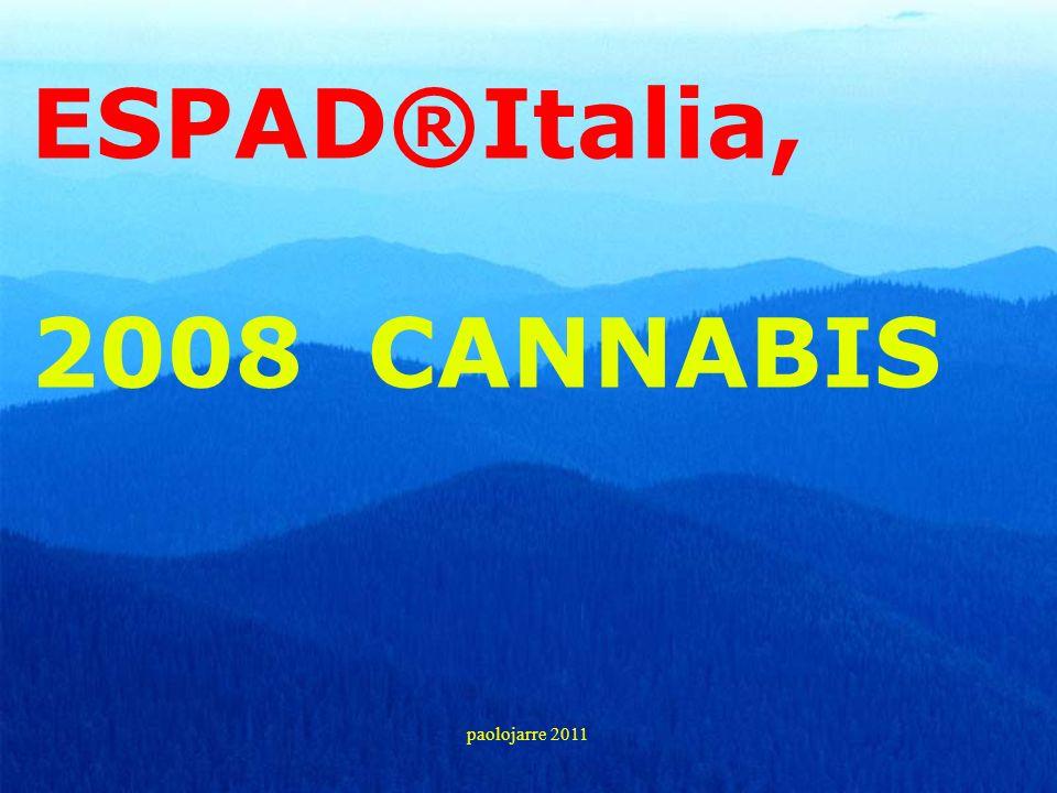 ESPAD®Italia, 2008 CANNABIS