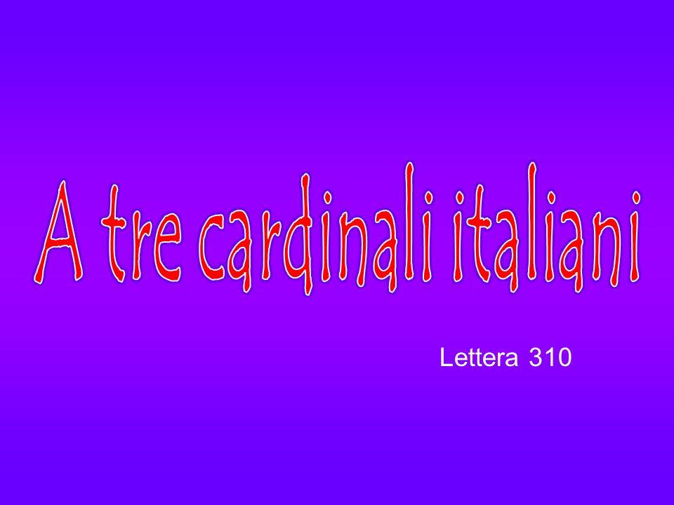 A tre cardinali italiani