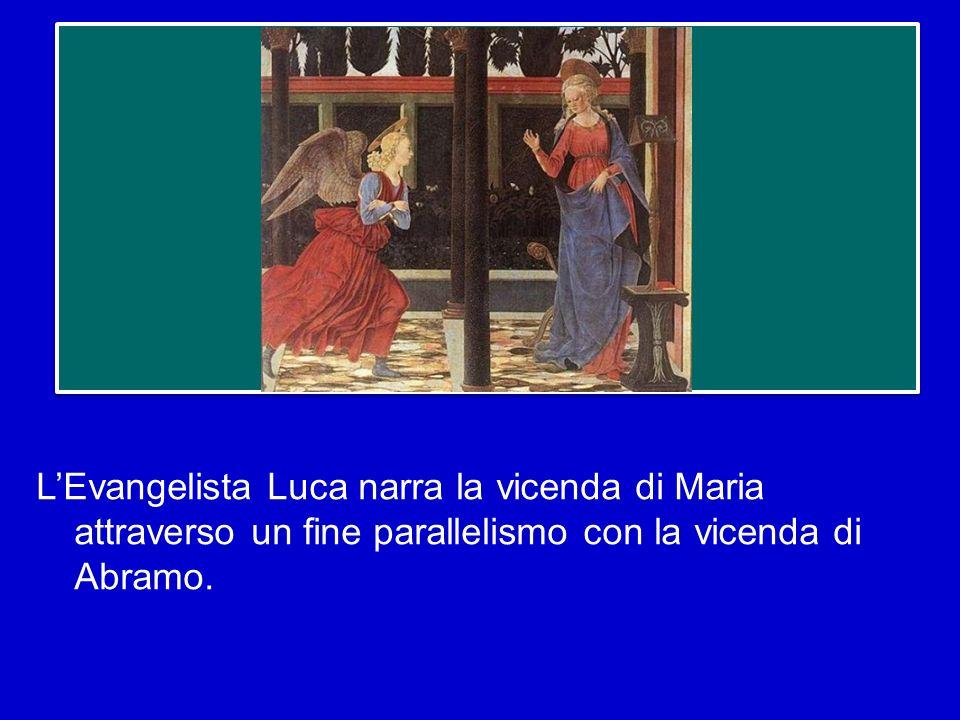 L'Evangelista Luca narra la vicenda di Maria attraverso un fine parallelismo con la vicenda di Abramo.