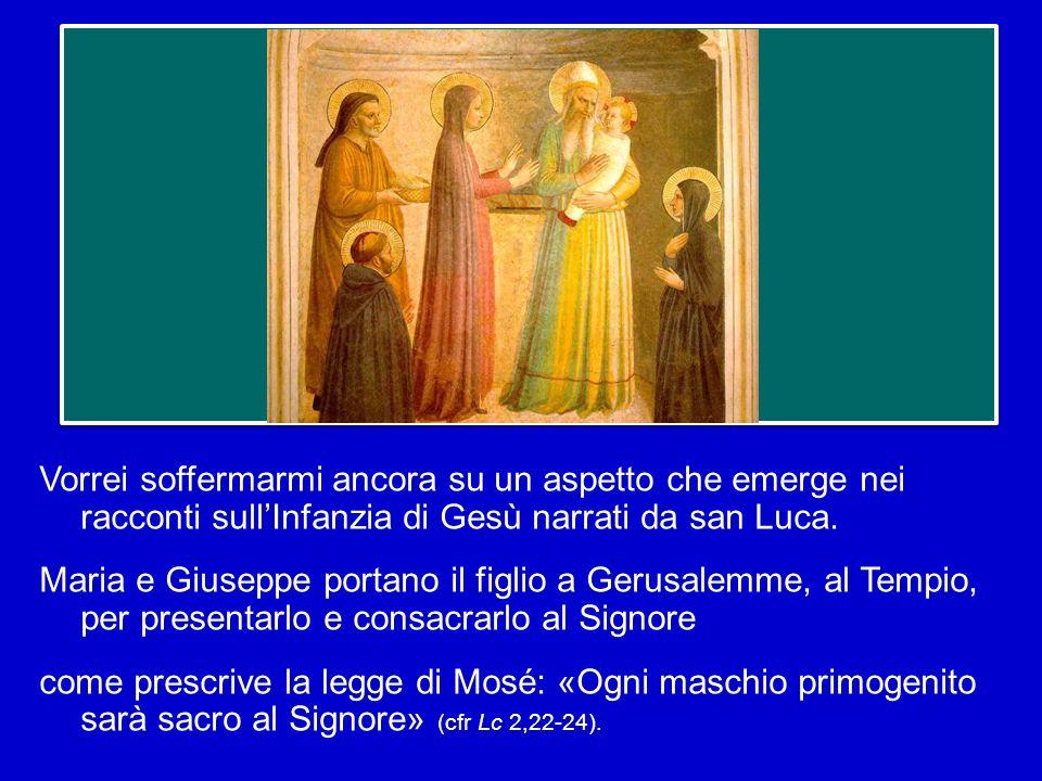 Vorrei soffermarmi ancora su un aspetto che emerge nei racconti sull'Infanzia di Gesù narrati da san Luca.