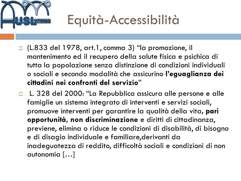 Equità-Accessibilità
