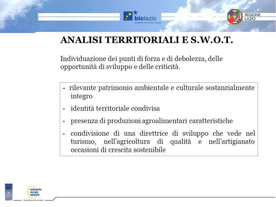 ANALISI TERRITORIALI E S. W. O. T