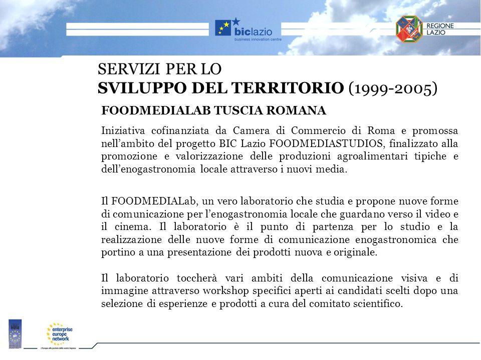 SERVIZI PER LO SVILUPPO DEL TERRITORIO (1999-2005)