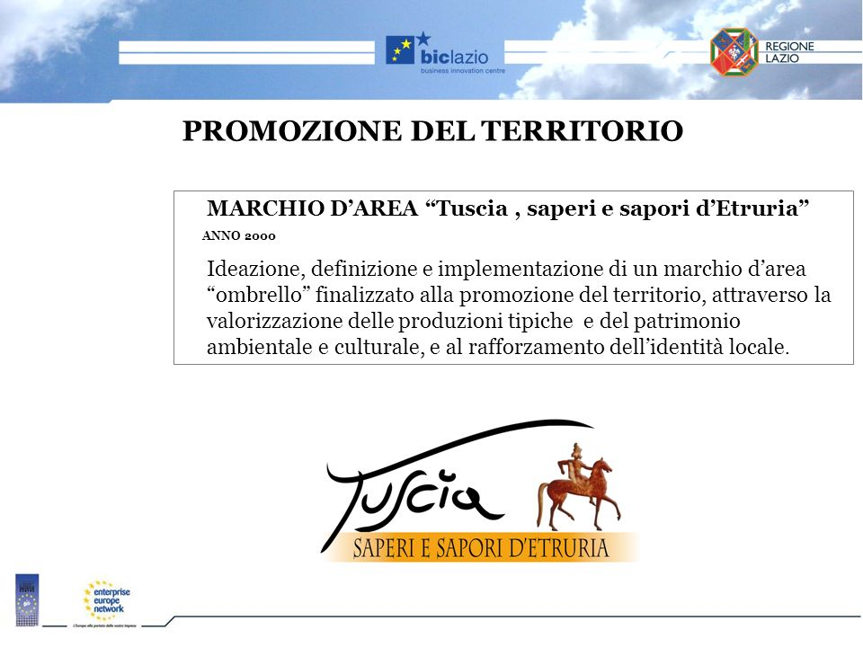 PROMOZIONE DEL TERRITORIO