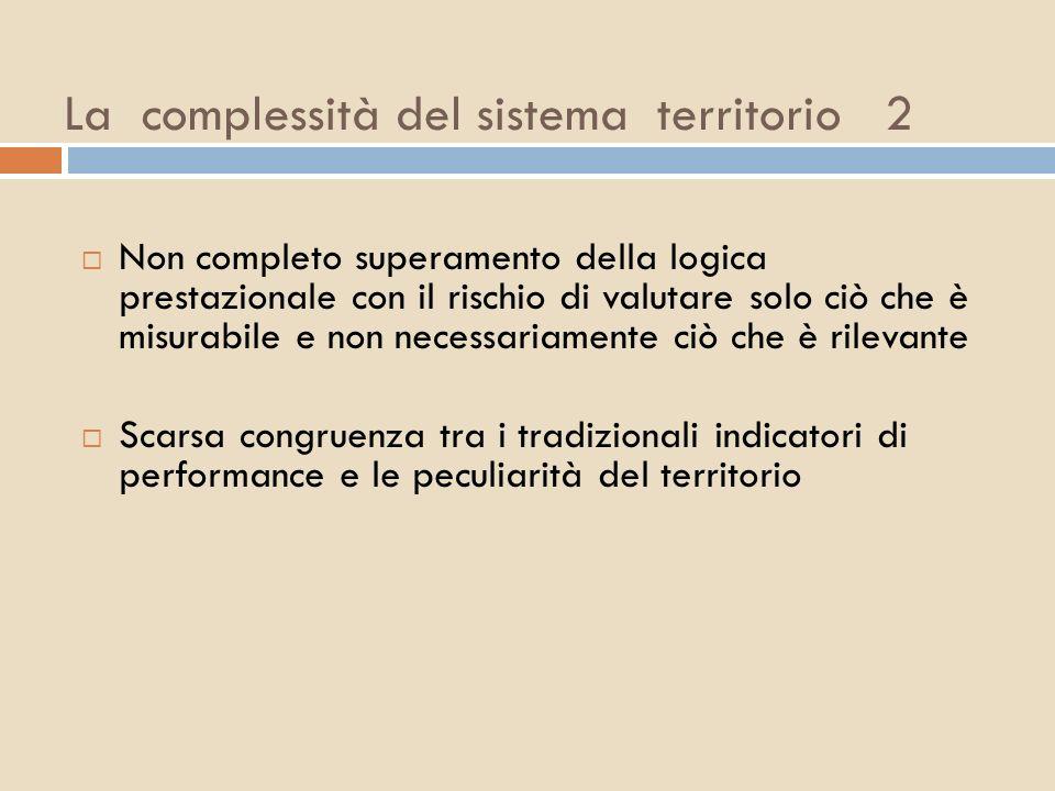La complessità del sistema territorio 2