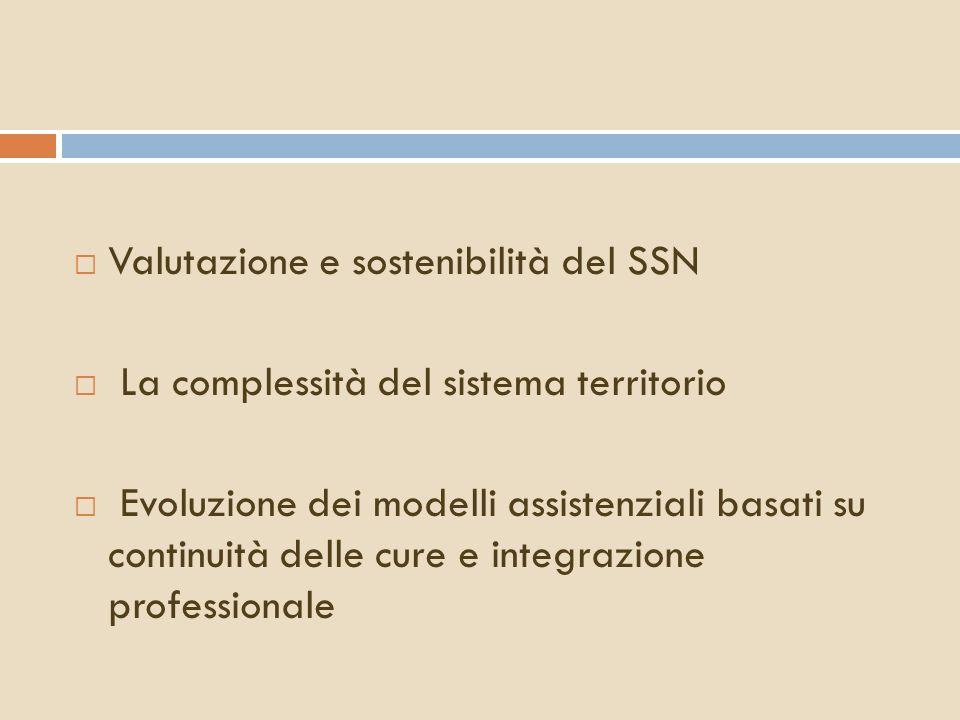 Valutazione e sostenibilità del SSN