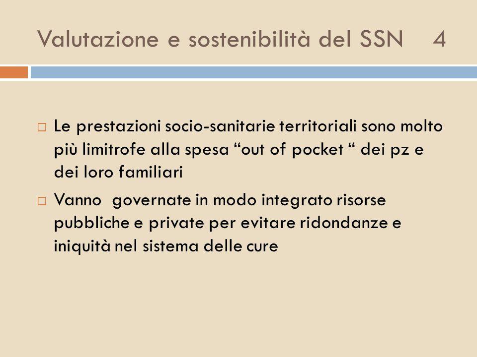Valutazione e sostenibilità del SSN 4