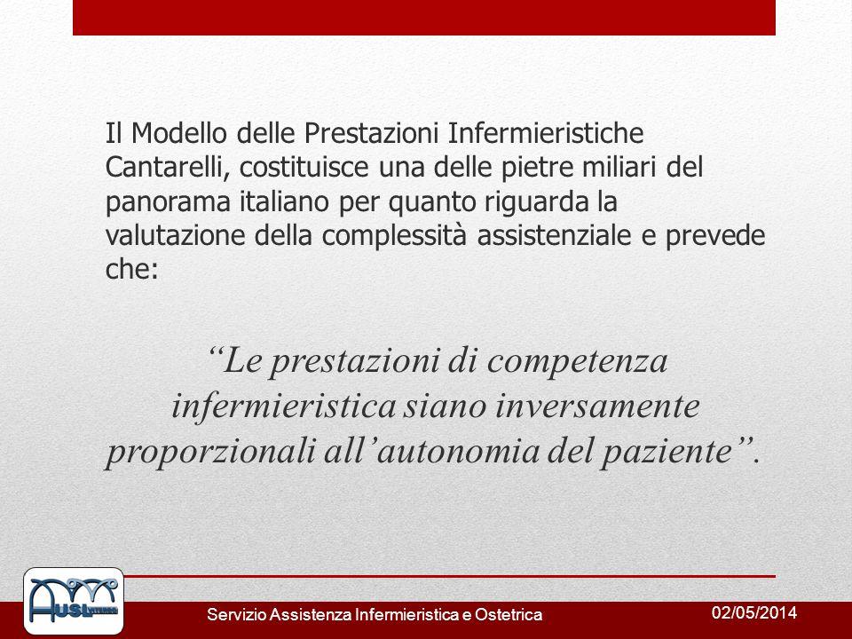 Il Modello delle Prestazioni Infermieristiche Cantarelli, costituisce una delle pietre miliari del panorama italiano per quanto riguarda la valutazione della complessità assistenziale e prevede che: