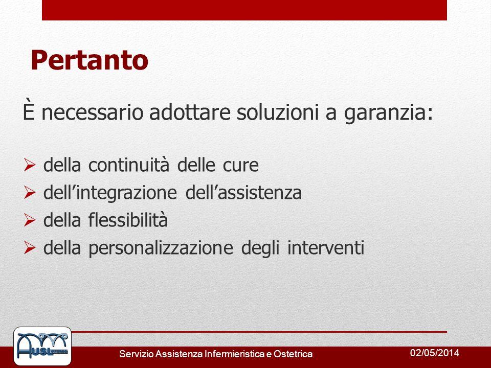 Pertanto È necessario adottare soluzioni a garanzia: