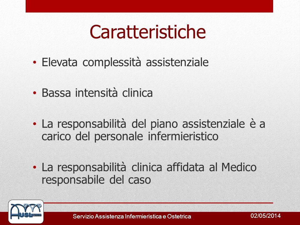 Caratteristiche Elevata complessità assistenziale