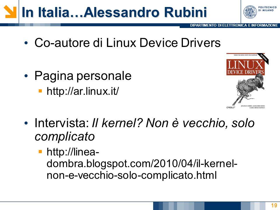 In Italia…Alessandro Rubini