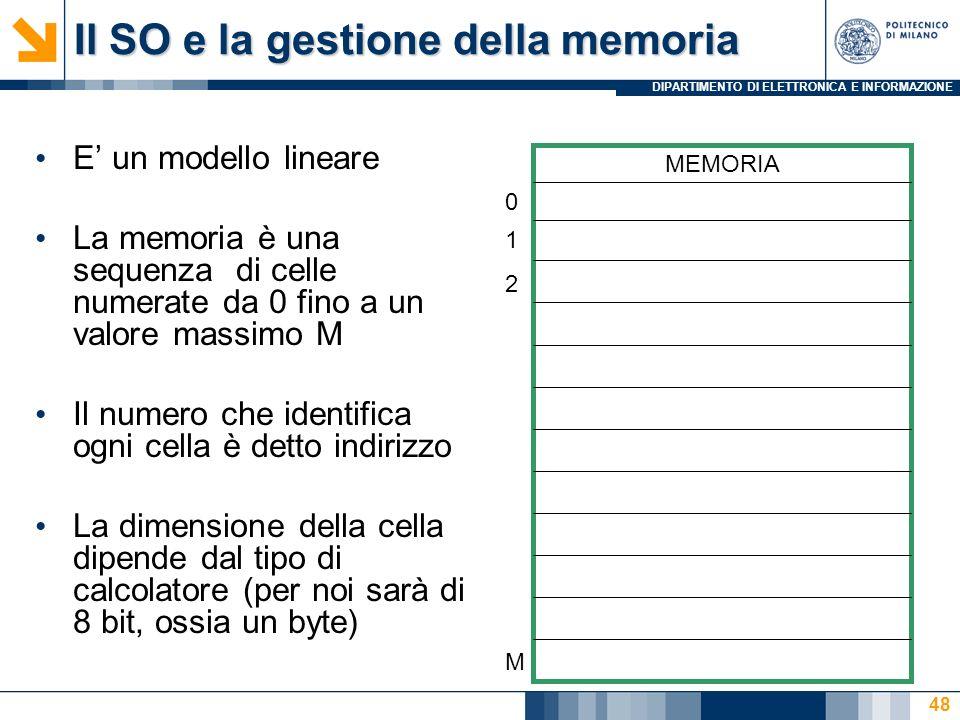 Il SO e la gestione della memoria