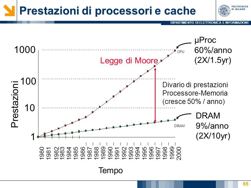 Prestazioni di processori e cache
