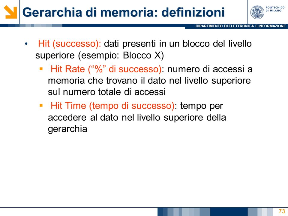 Gerarchia di memoria: definizioni