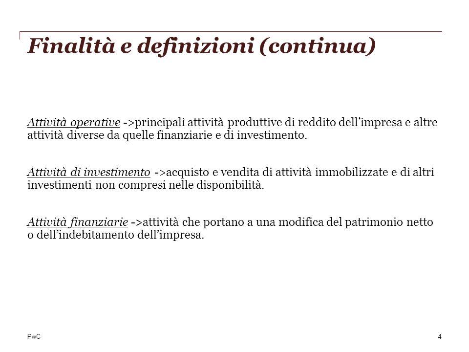 Finalità e definizioni (continua)