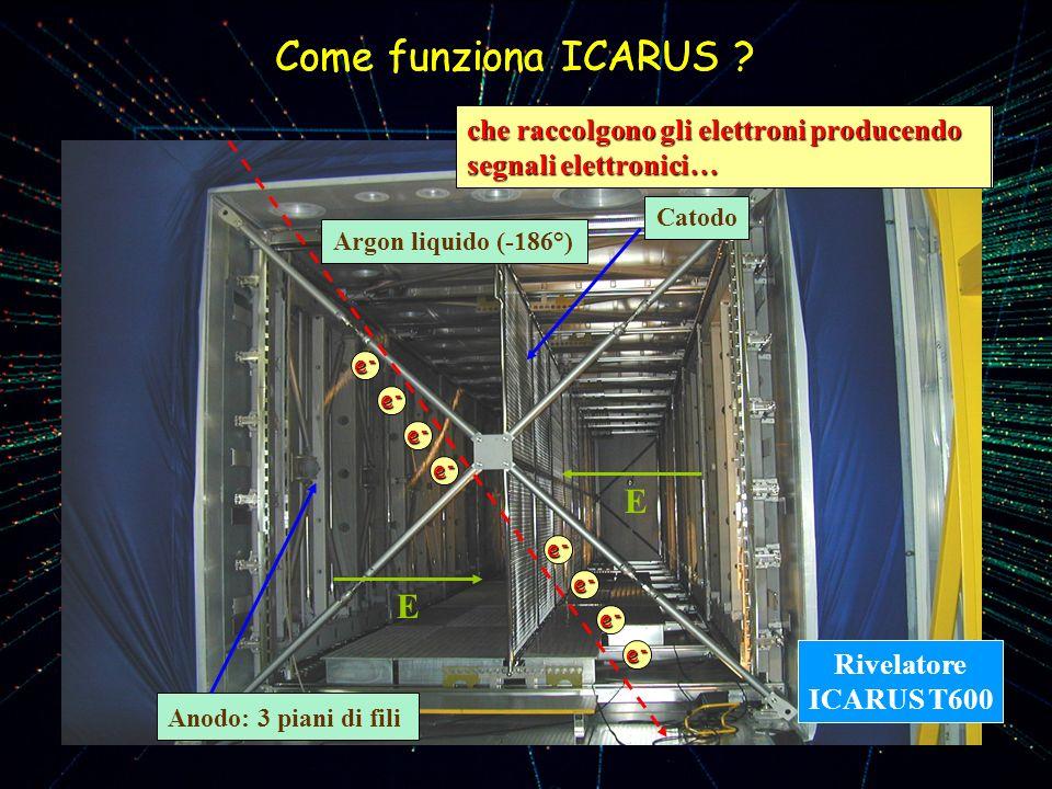 Come funziona ICARUS Come funziona ICARUS E E