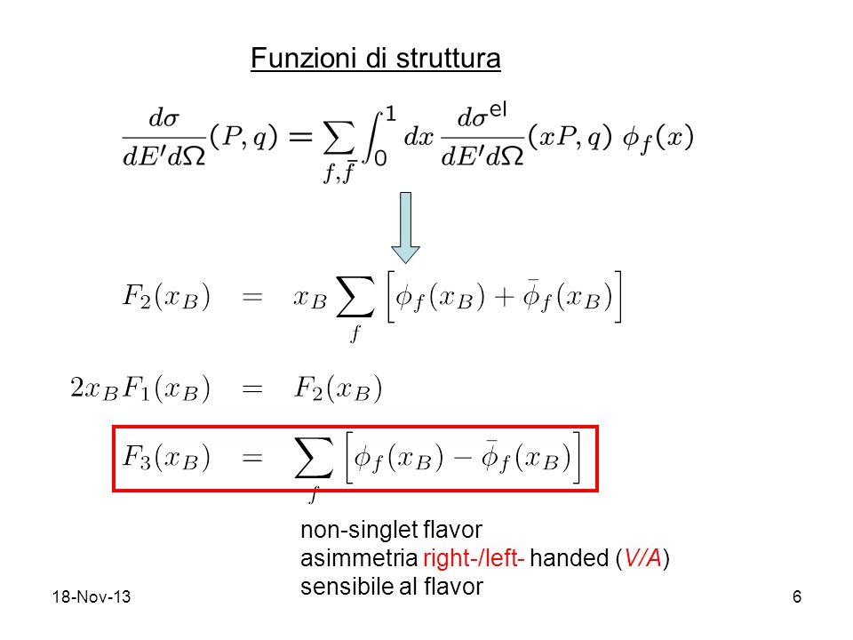 Funzioni di struttura non-singlet flavor