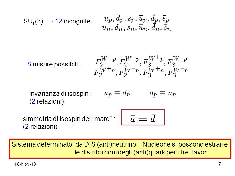 invarianza di isospin : (2 relazioni)