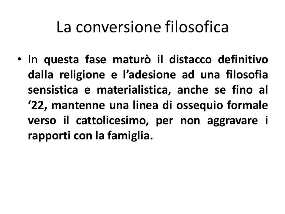 La conversione filosofica