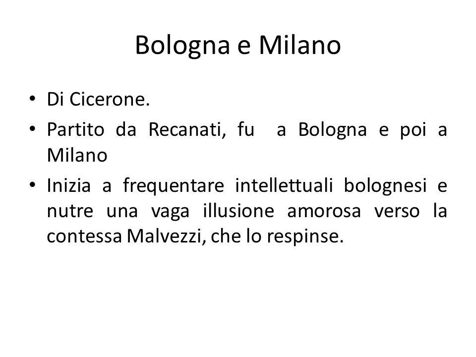 Bologna e Milano Di Cicerone.