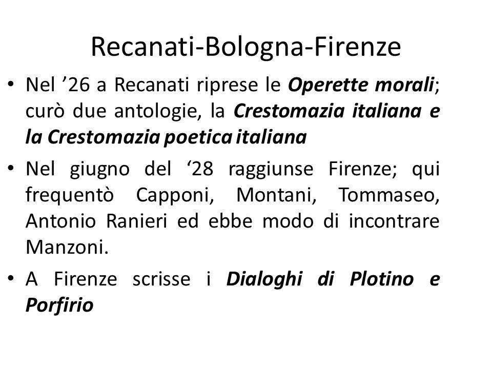 Recanati-Bologna-Firenze