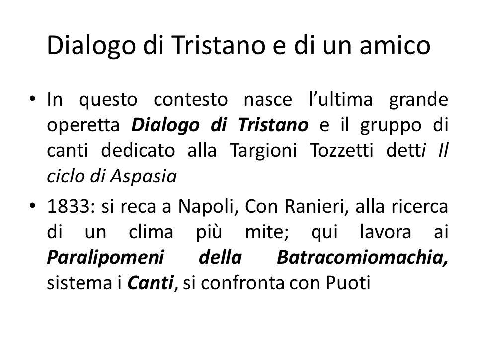Dialogo di Tristano e di un amico
