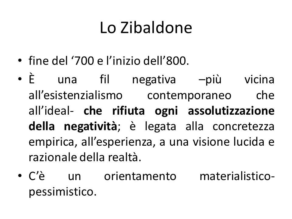 Lo Zibaldone fine del '700 e l'inizio dell'800.
