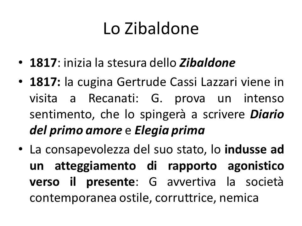 Lo Zibaldone 1817: inizia la stesura dello Zibaldone