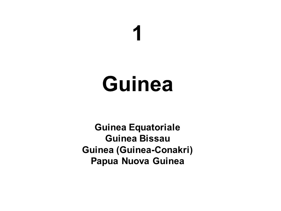 Guinea (Guinea-Conakri)
