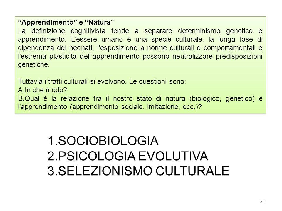 SELEZIONISMO CULTURALE