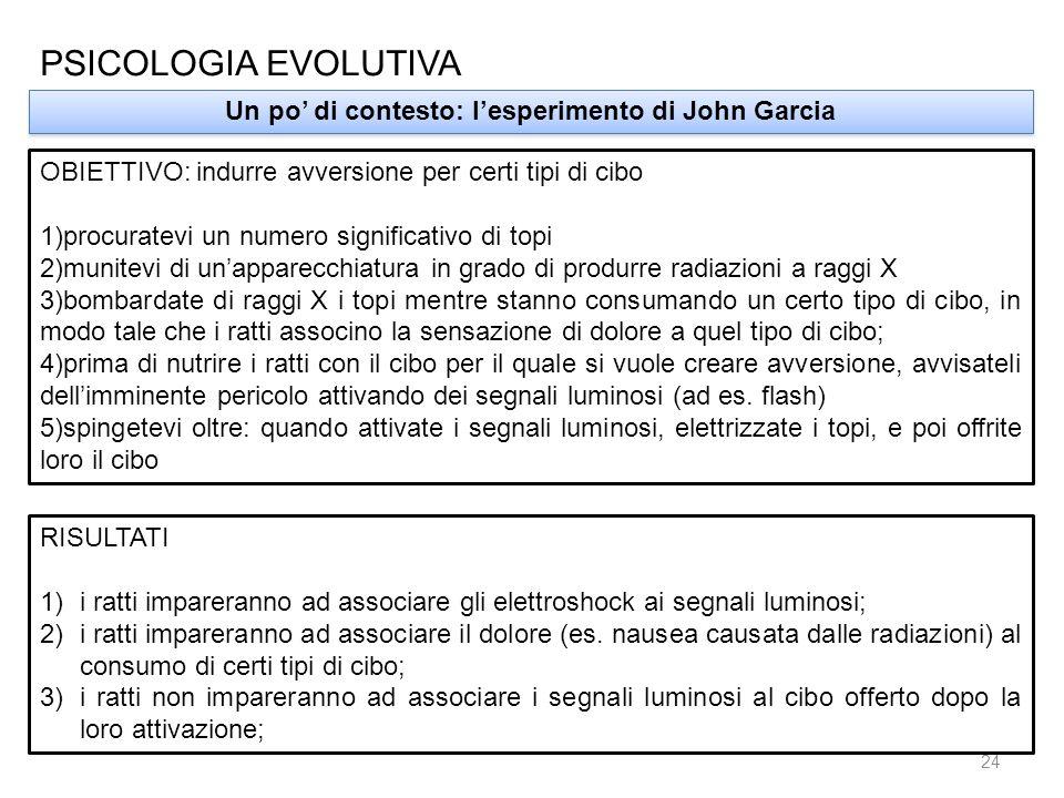 Un po' di contesto: l'esperimento di John Garcia
