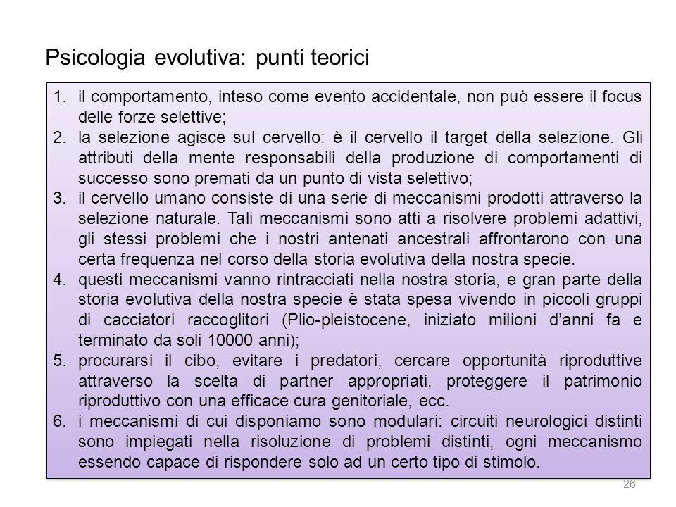Psicologia evolutiva: punti teorici