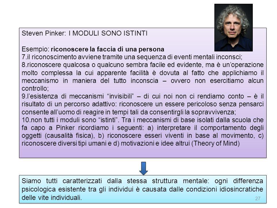 Steven Pinker: I MODULI SONO ISTINTI