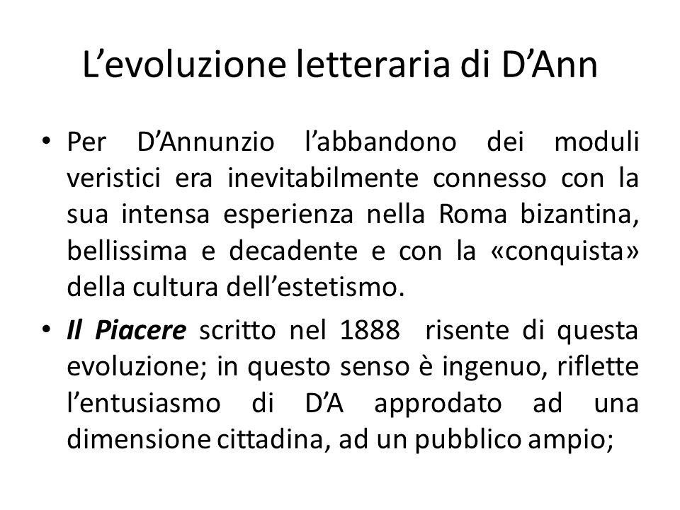 L'evoluzione letteraria di D'Ann