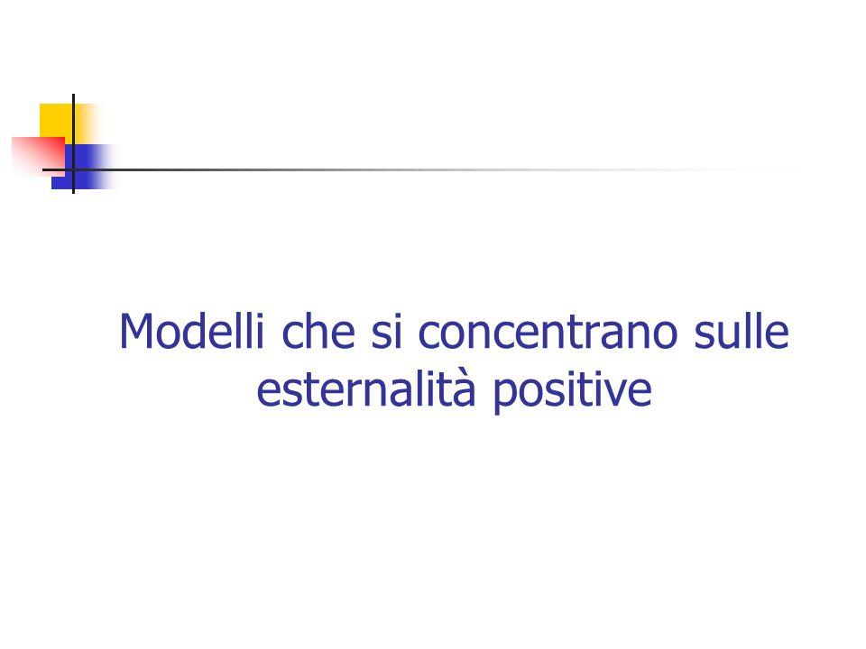 Modelli che si concentrano sulle esternalità positive