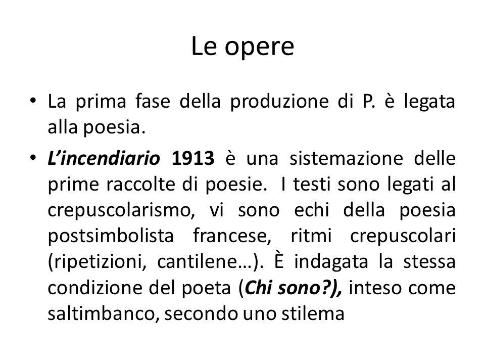 Le opere La prima fase della produzione di P. è legata alla poesia.