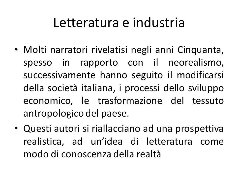 Letteratura e industria