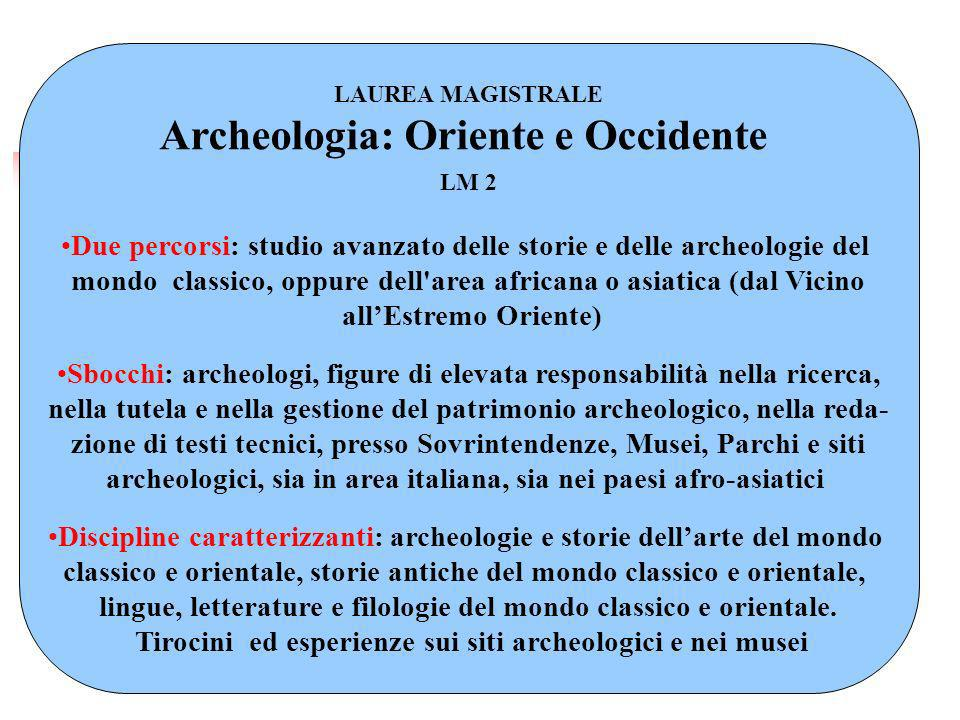 Archeologia: Oriente e Occidente