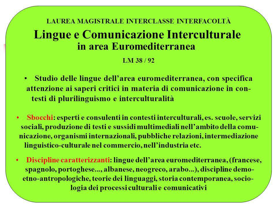 Lingue e Comunicazione Interculturale