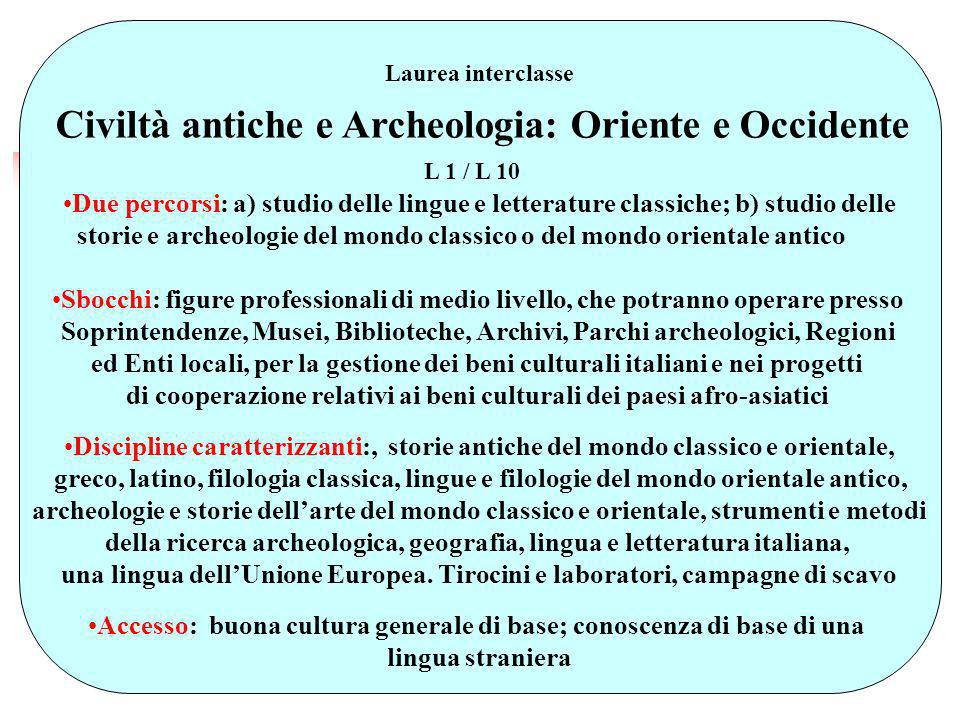 Civiltà antiche e Archeologia: Oriente e Occidente