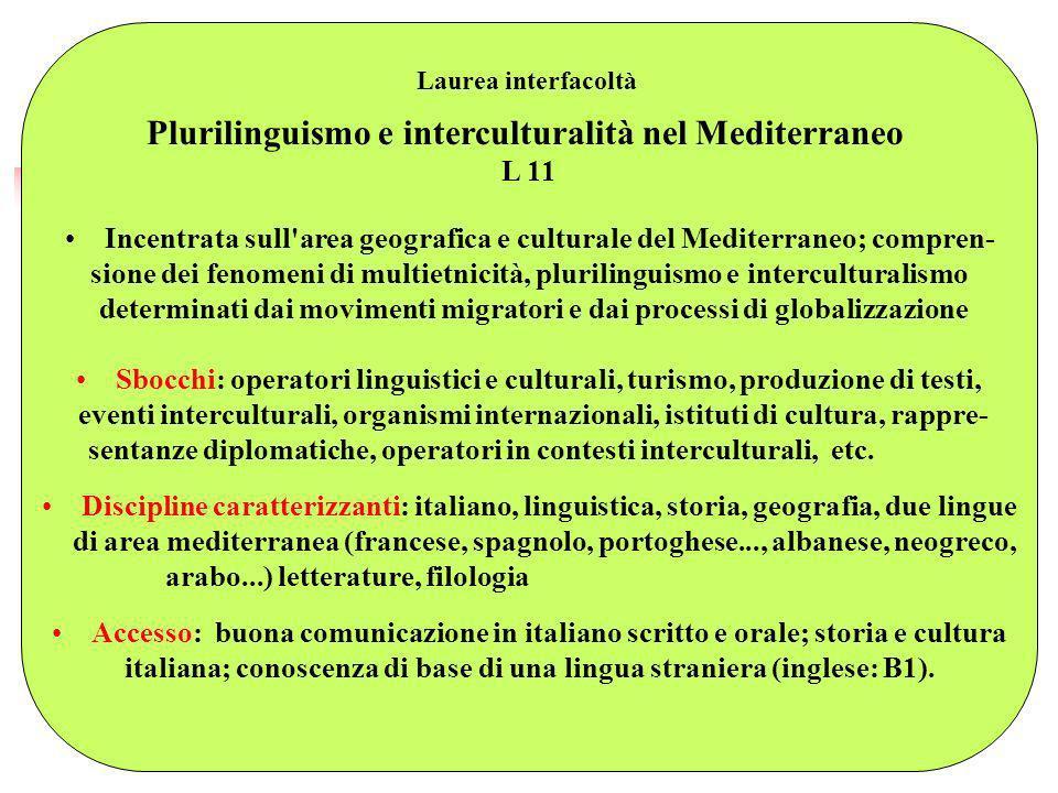Plurilinguismo e interculturalità nel Mediterraneo