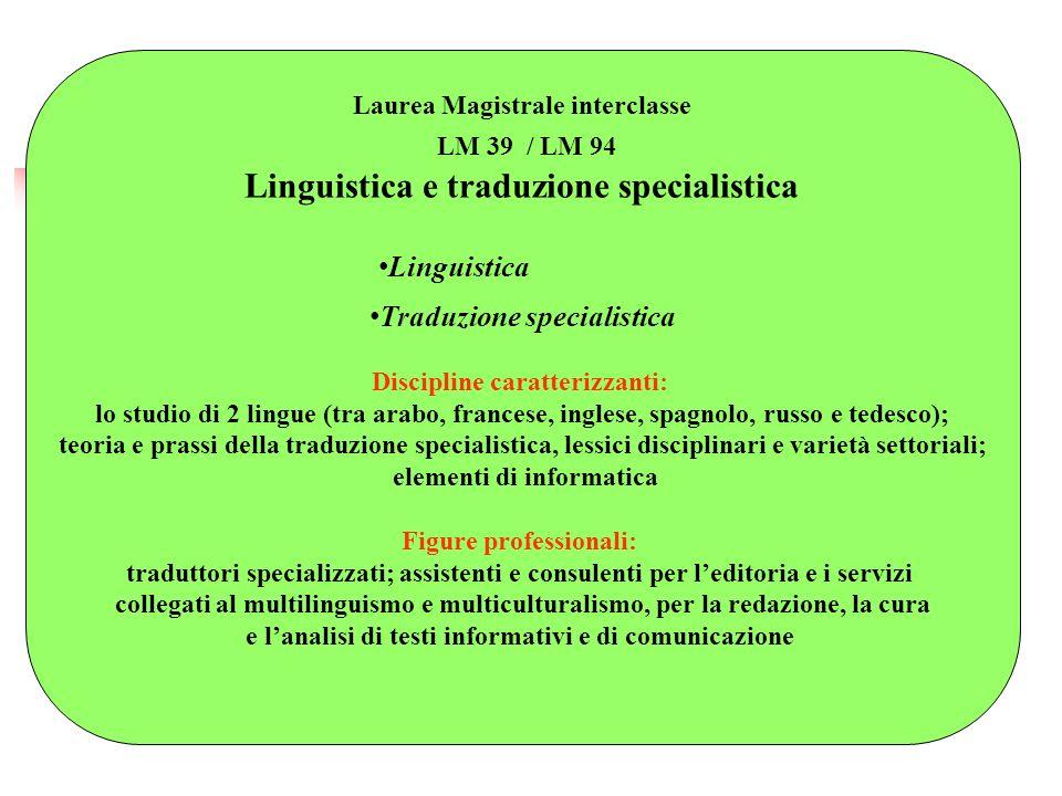 Linguistica e traduzione specialistica