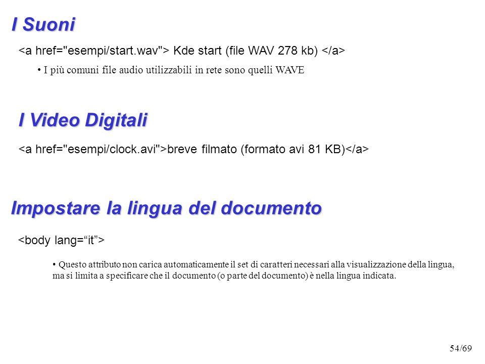 Impostare la lingua del documento
