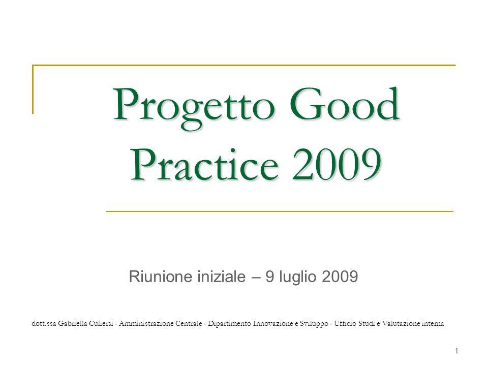 Progetto Good Practice 2009
