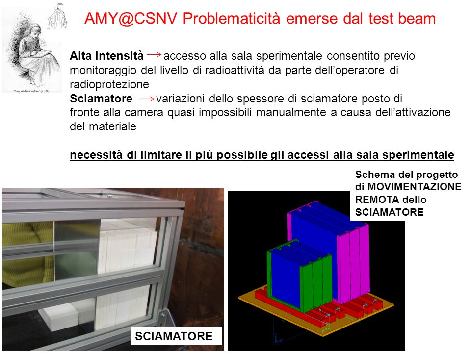 AMY@CSNV Problematicità emerse dal test beam