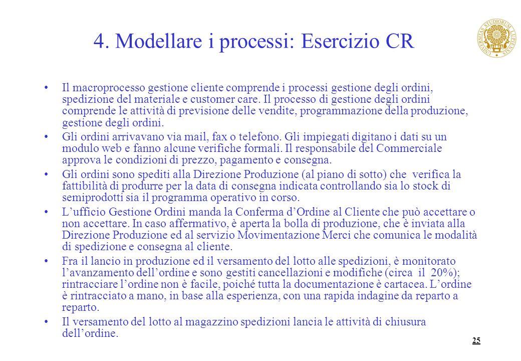 4. Modellare i processi: Esercizio CR