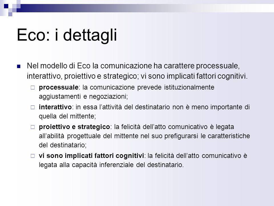 Eco: i dettagli