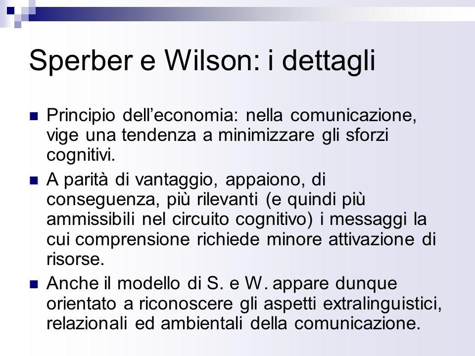 Sperber e Wilson: i dettagli